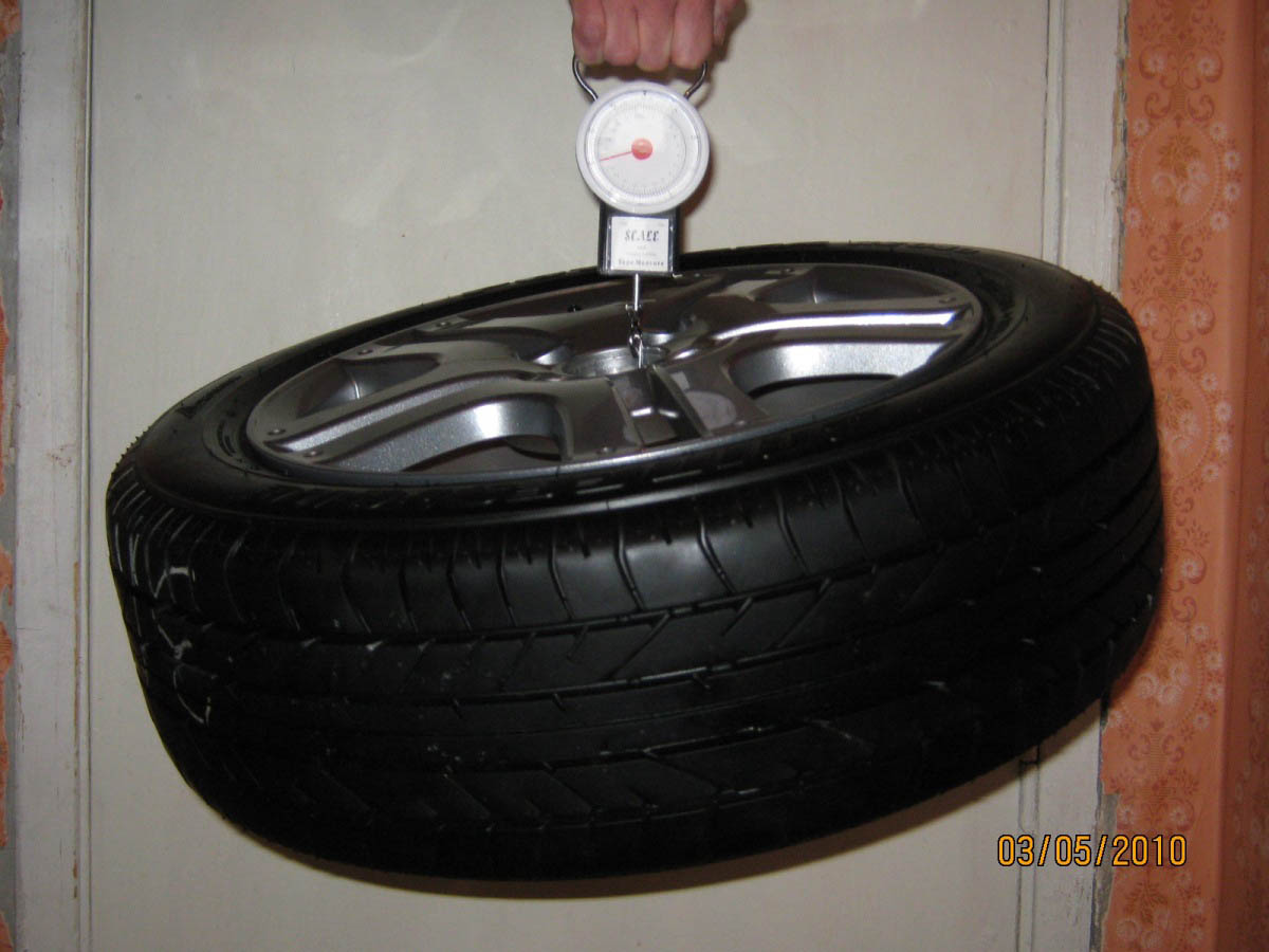 Измерение веса колеса